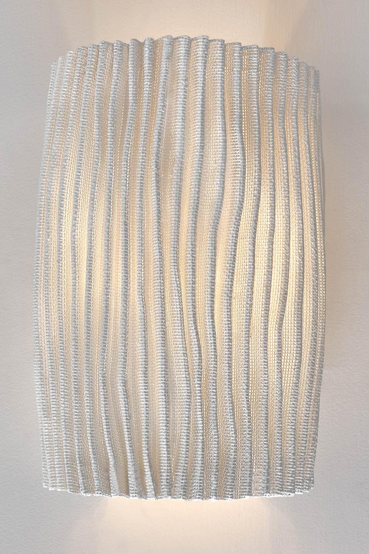 Applique tissu plissé blanc siliconé Gea. Arturo Alvarez.