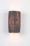 Gea applique en tissu gris plissé Simetech . Arturo Alvarez.