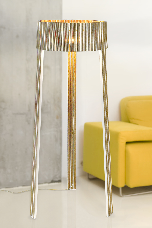 lampadaire tripode lattes de bois weng shio arturo alvarez luminaire design fabriqu en. Black Bedroom Furniture Sets. Home Design Ideas