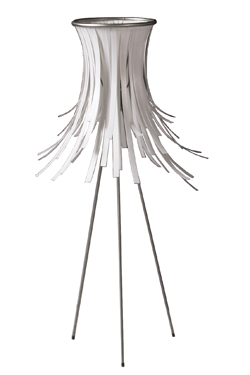 Lampe de table blanche en polypropylène Bety  . Arturo Alvarez.
