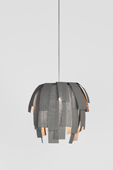 Gray pendant in painted fabric Simetech Luisa. Arturo Alvarez.