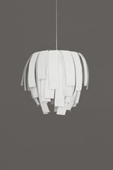 Large pendant in off-white Simetech fabric Luisa. Arturo Alvarez.