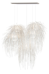 Tina very large white pendant 5 lights in polypropylene strip. Arturo Alvarez.