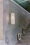Suspension blanche cylindrique en tissu plissé Simetech  Gea. Arturo Alvarez.