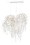 Tina très grande suspension blanche 5 lumières à bandes en polypropylène . Arturo Alvarez.