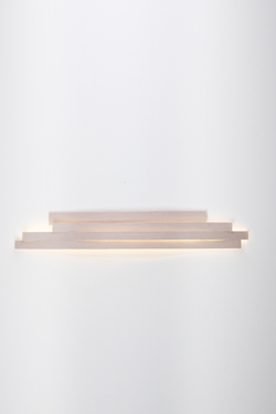 Wall Lamp In White Pressed Cellulose