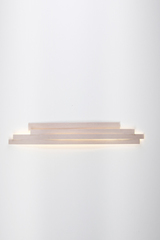Li large and long wall lamp in white pressed cellulose. Arturo Alvarez.