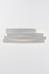 Li long wall lamp in gray pressed cellulose. Arturo Alvarez.