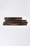 Li long LED brown pressed cellulose wall lamp . Arturo Alvarez.