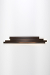 Li long and large brown pressed cellulose LED wall lamp . Arturo Alvarez.