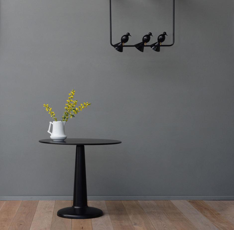 suspension alouette design noire 3 oiseaux atelier areti luminaires design en cristal et en. Black Bedroom Furniture Sets. Home Design Ideas