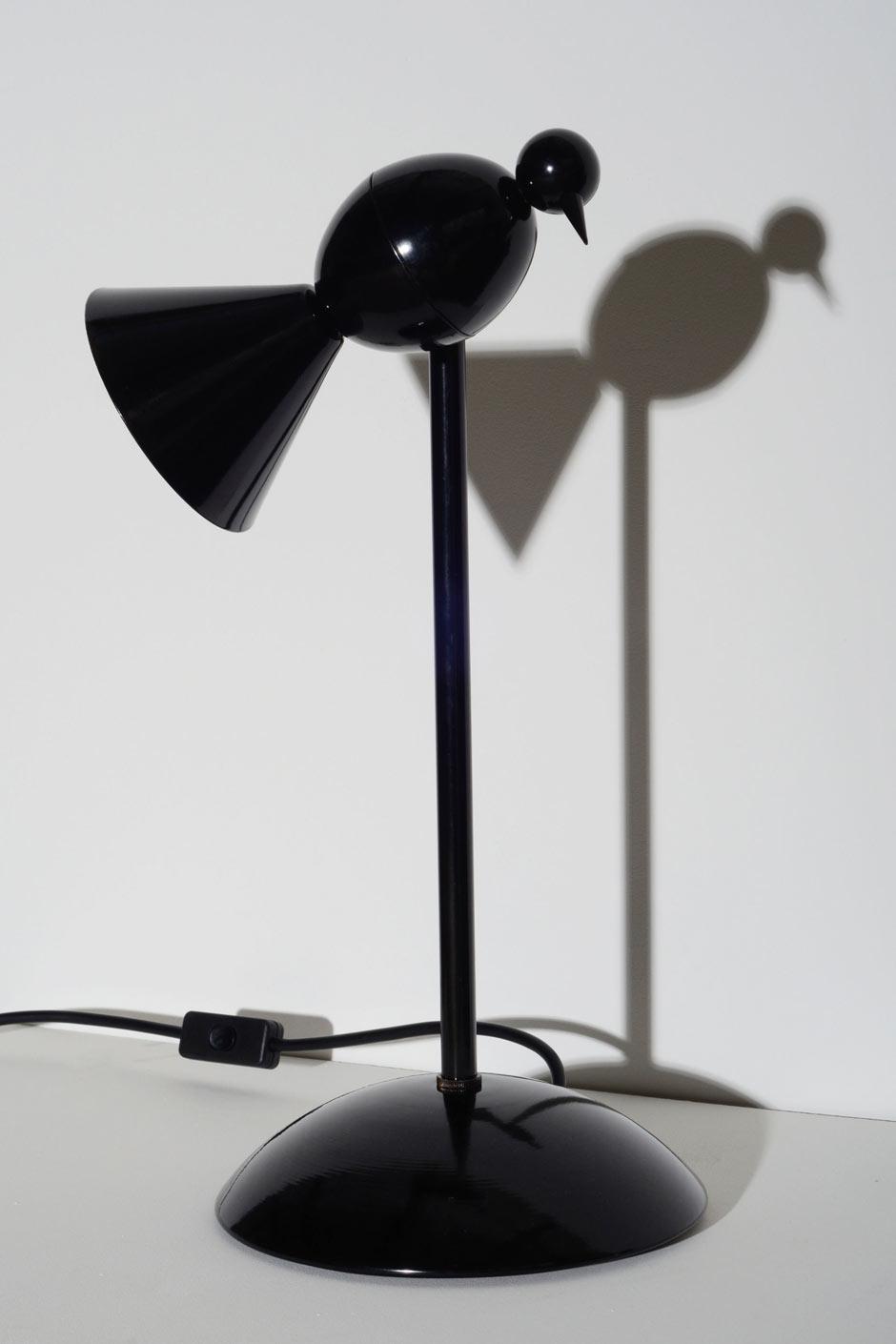 Lampe de bureau design noire alouette pied fixe atelier - Lampe de bureau sur pied ...