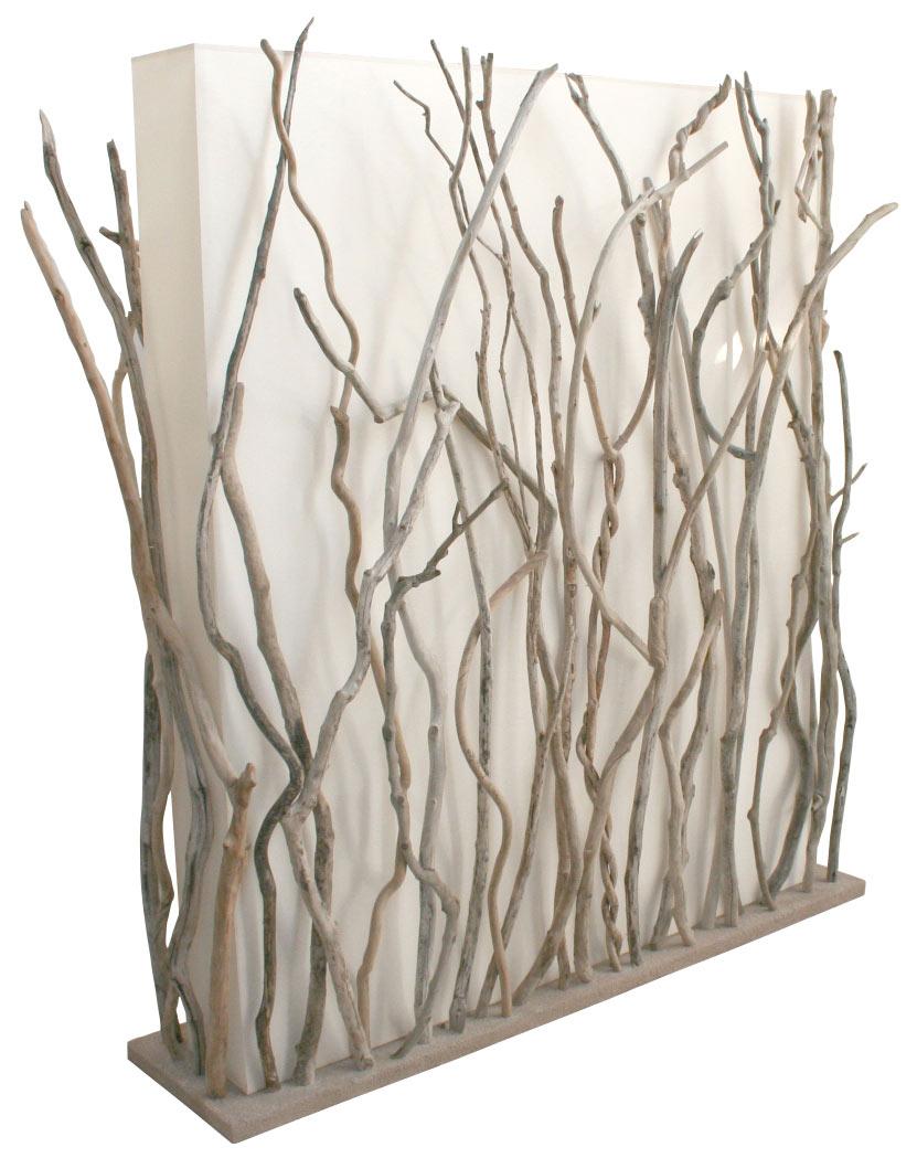 Miroir bois flott coquillage et toile de jute rond for Atelier bois flotte