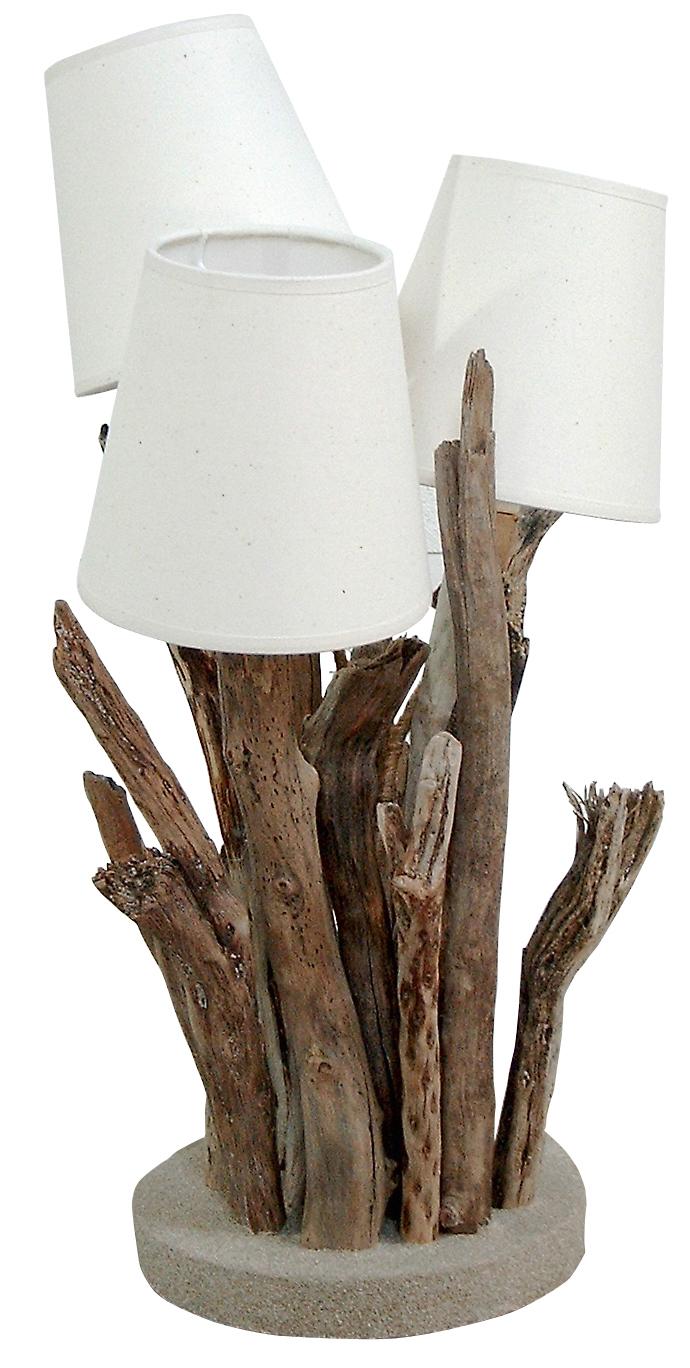 r grande lampe de table par l 39 atelier du bois flott. Black Bedroom Furniture Sets. Home Design Ideas
