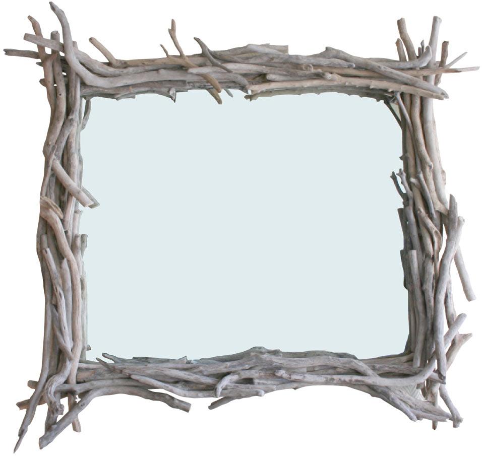 Tr s grand miroir en bois flott par l 39 atelier du bois flott r f 1101 - Grand miroir bois flotte ...