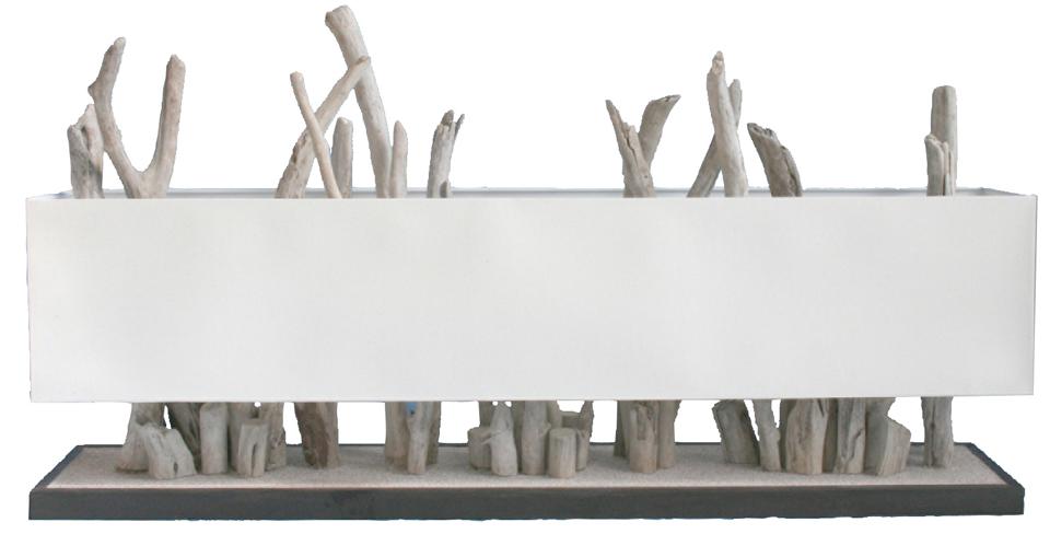 one time lampe de table en bois flotté par l'atelier du bois