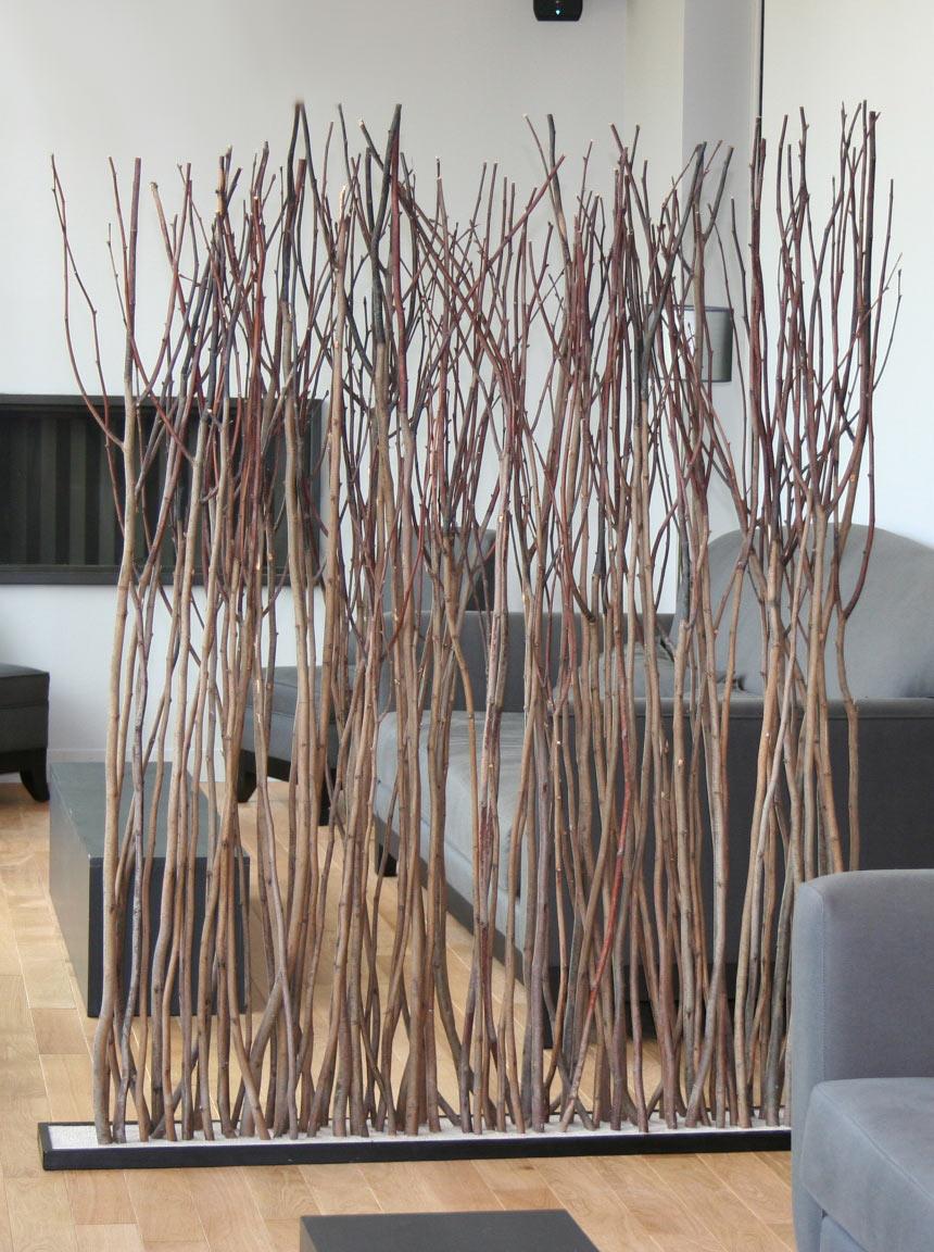 Paravent en tilleul par l 39 atelier du bois flott r f for Branche bois flotte decoration