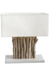 Pontoon lampe de table en bois flotté. L'Atelier du Bois Flotté.