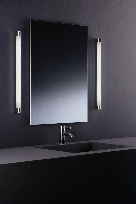Salle De Bain Carrelage Noir Et Blanc ~ applique de salle de bains tube et m tal poli baulmann leuchten