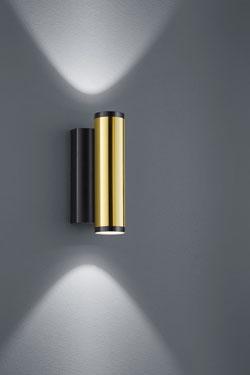 Applique Design dorée et noire. Baulmann Leuchten.
