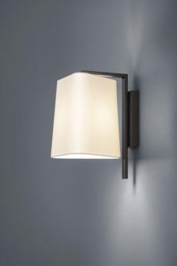Applique Design métal noir et Chintz écru. Baulmann Leuchten.