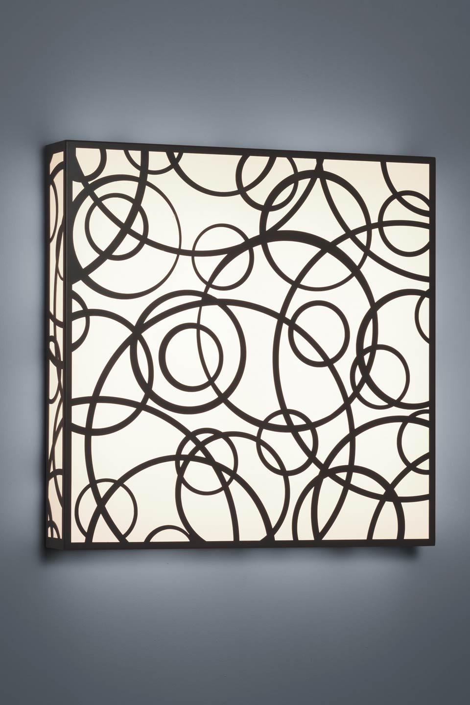 Applique en bronze antique motifs en cercles forme carrée. Baulmann Leuchten.
