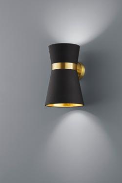 Applique noire et dorée. Baulmann Leuchten.