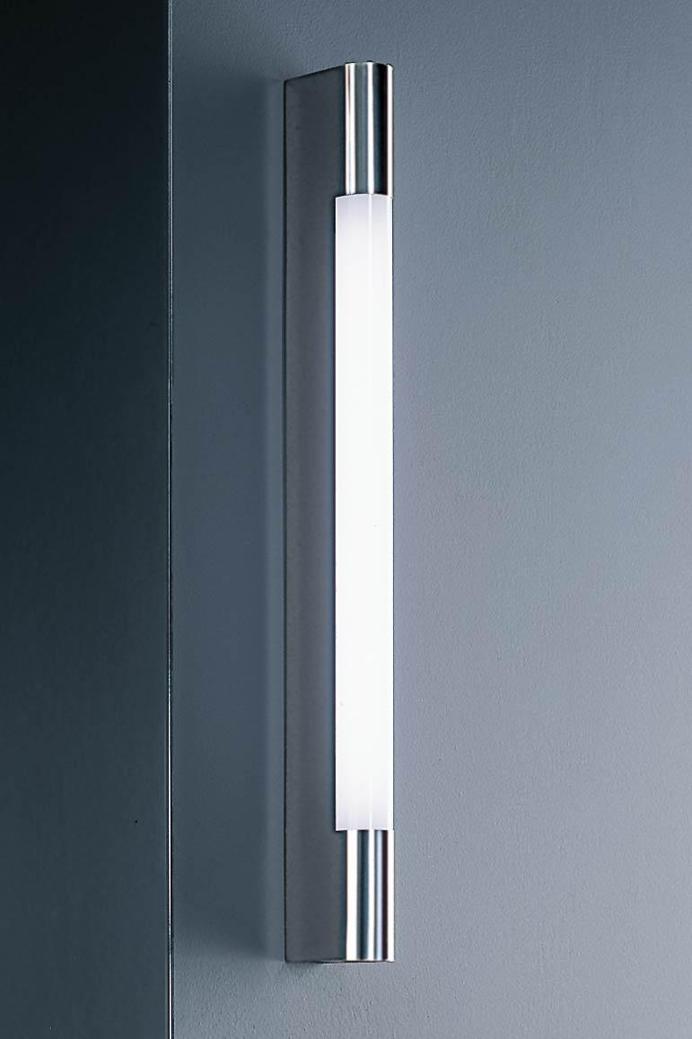 Applique tube inox poli longueur 60cm. Baulmann Leuchten.