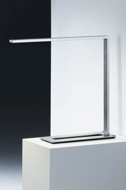 Ultra thin LED desk lamp with flat head. Baulmann Leuchten.