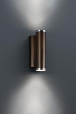 Fine applique en métal bronze foncé bordé de nickel satiné. Baulmann Leuchten.