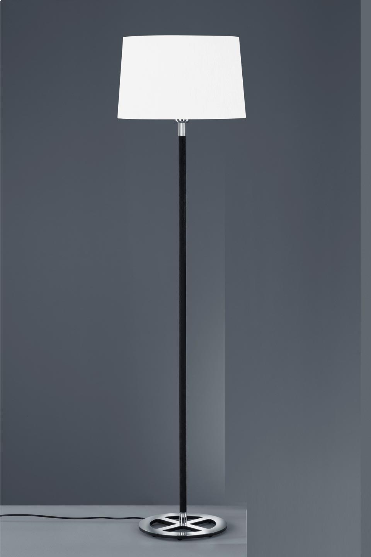Black White And Chrome Floor Lamp Textile Foot Baulmann Leuchten Luxury Lightings Made In