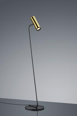 Reading lamp Design polished gold and black thin foot. Baulmann Leuchten.