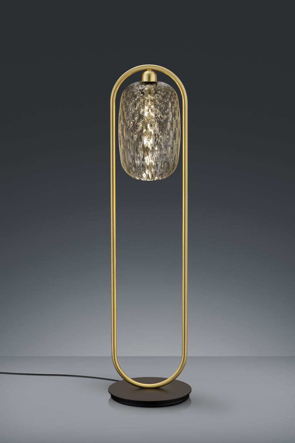 Small Design Floor Lamp In Gl And