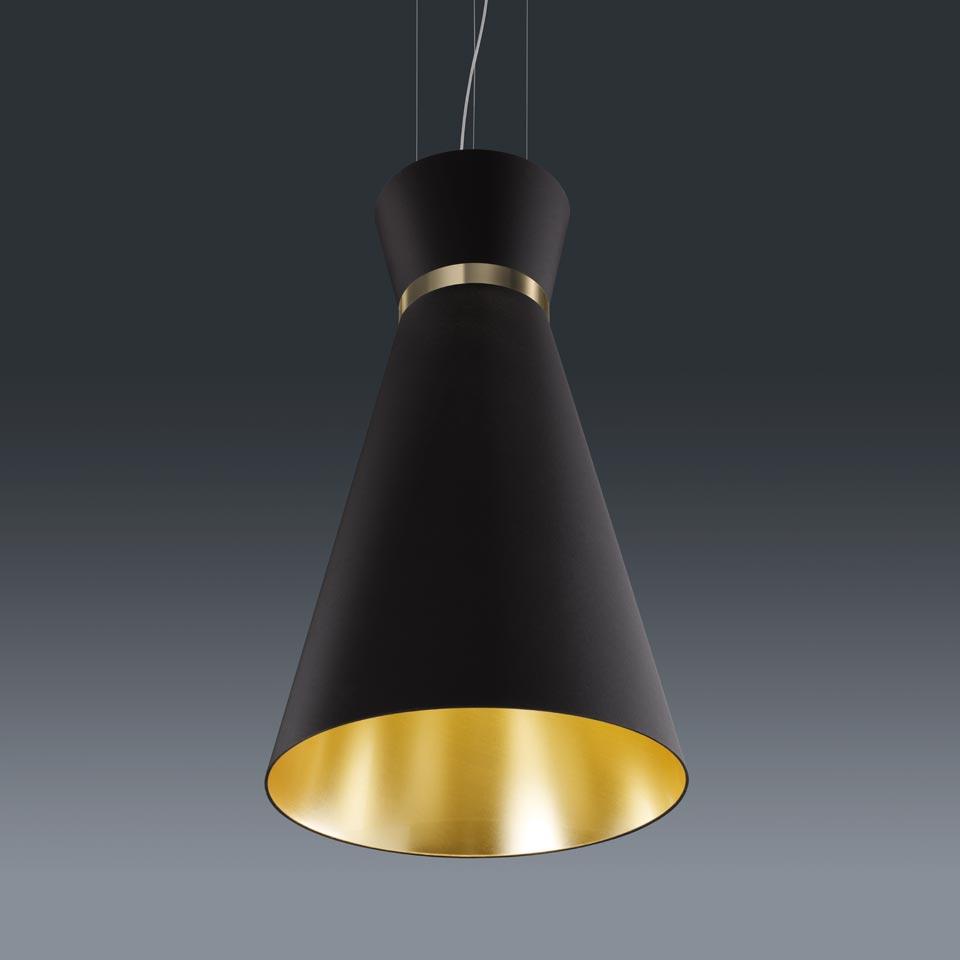 grande suspension conique baulmann leuchten luminaire de prestige fabriqu en allemagne r f. Black Bedroom Furniture Sets. Home Design Ideas