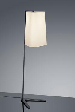 Lampadaire Design noir pied métal. Baulmann Leuchten.