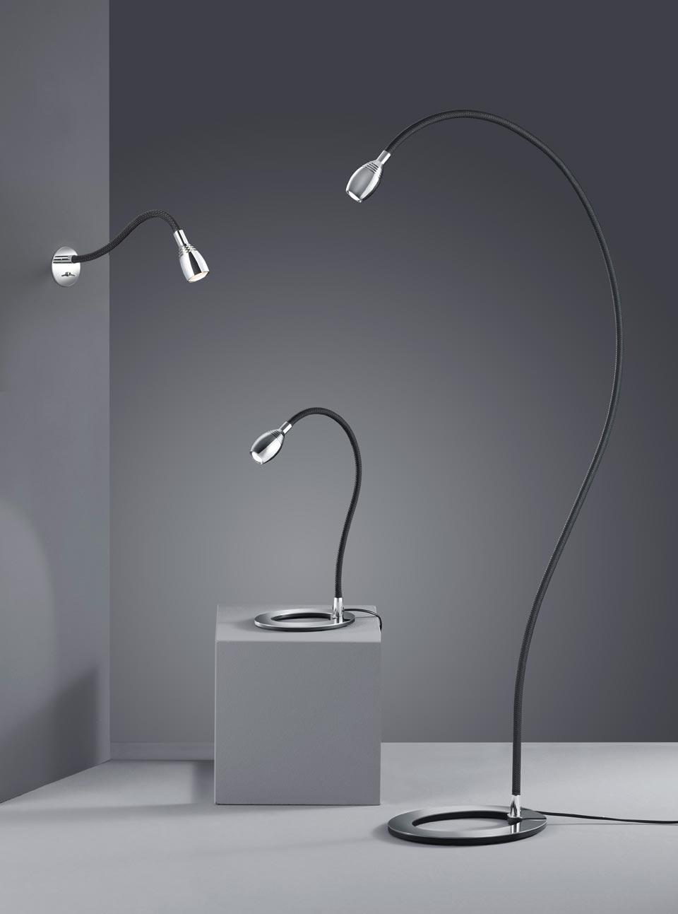 lampadaire liseuse sur pied flexible en textile camouflage. Black Bedroom Furniture Sets. Home Design Ideas