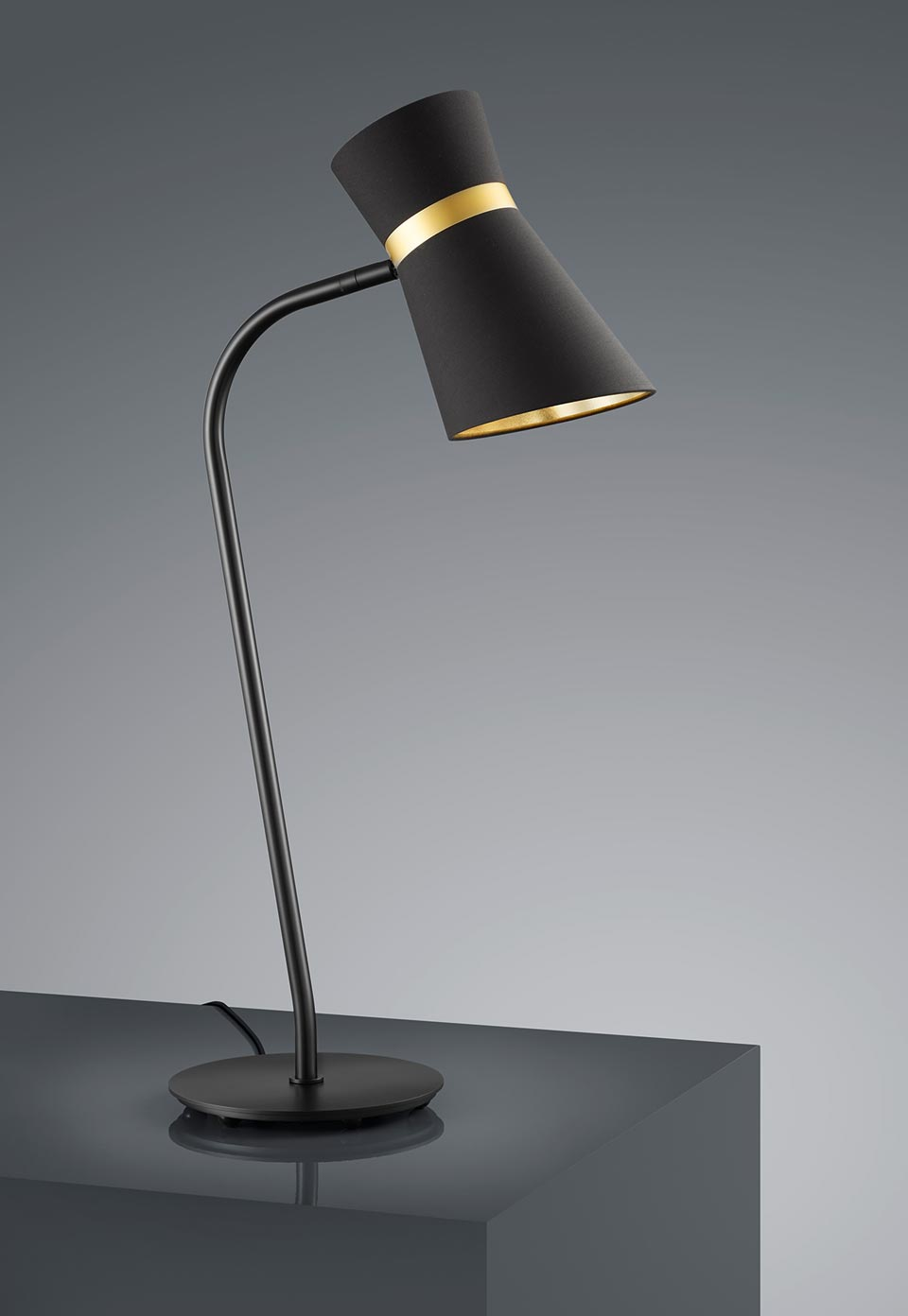 Pied Métal Avec Lampe Noir Mat En 0n8PwkO