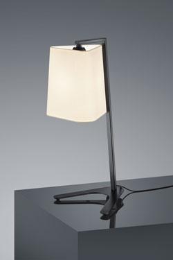 Lampe de table Design métal noir . Baulmann Leuchten.