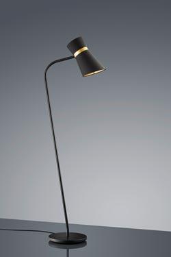 Liseuse noire et dorée. Baulmann Leuchten.