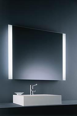 Miroir carré lumineux double fluo. Baulmann Leuchten.