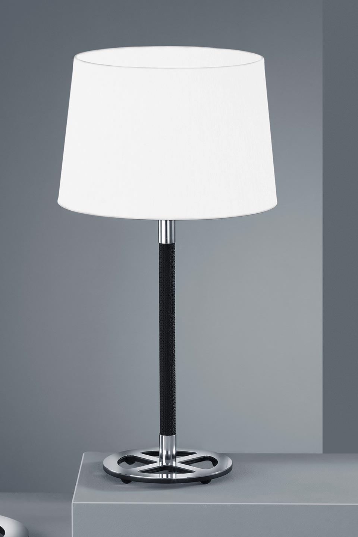 Picture of: Black And White Bedside Lamp Chromed Metal Baulmann Leuchten Luxury Lightings Made In Germany Ref 19030123