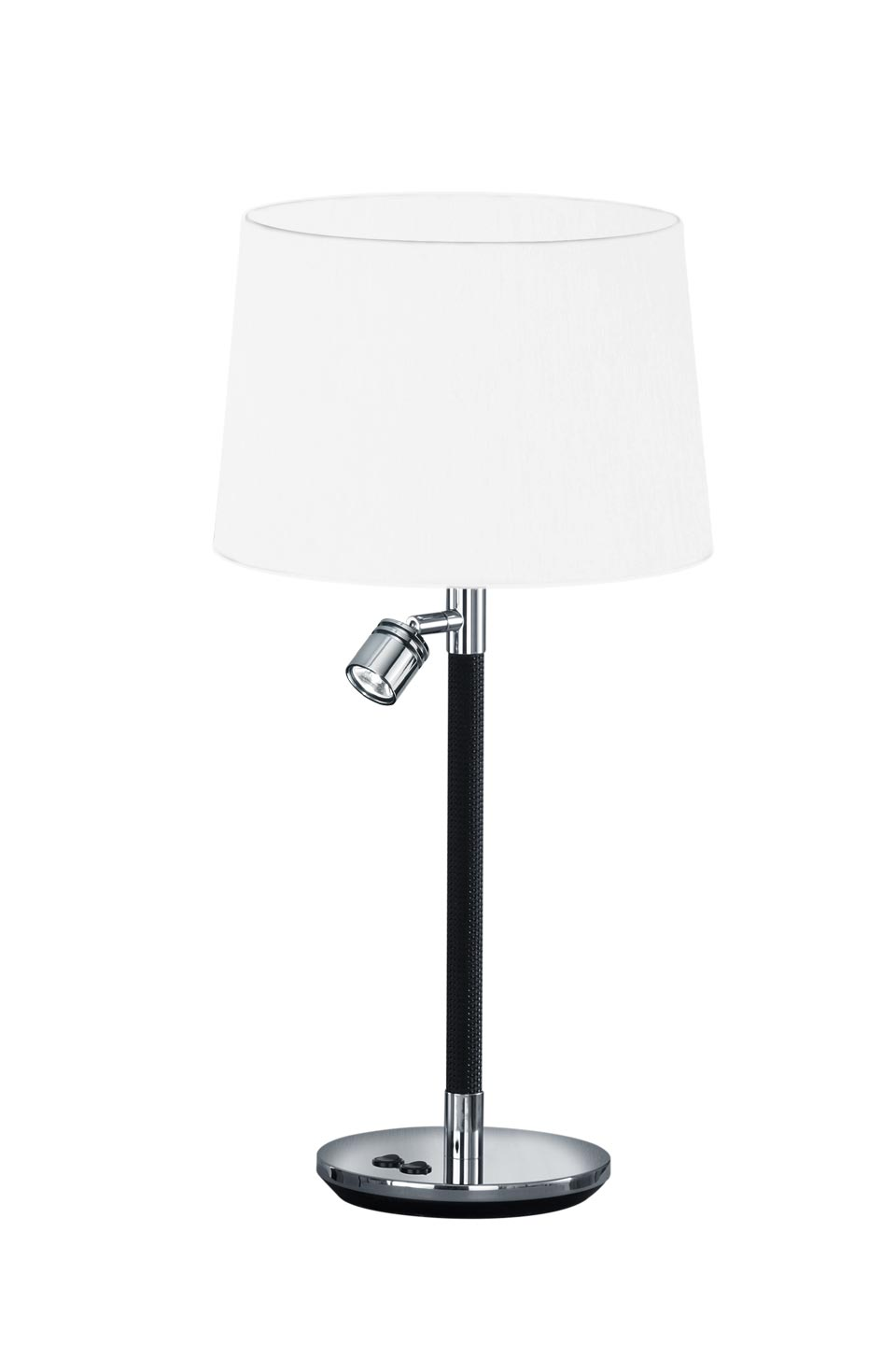 Black and white bedside lamp + reading lamp . Baulmann Leuchten.