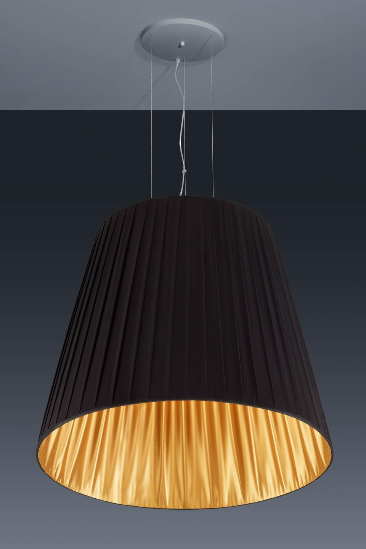 Suspension noir et or 15 tr s grande suspension conique for Suspension tissu