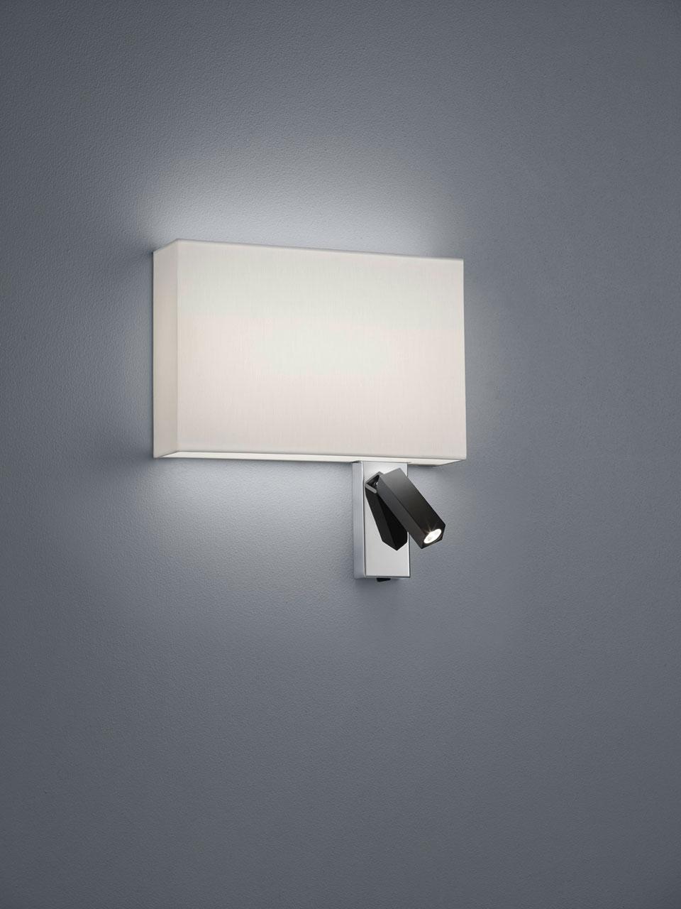 Bedside Wall Lamp Reading Rectangle Shade Baulmann Leuchten