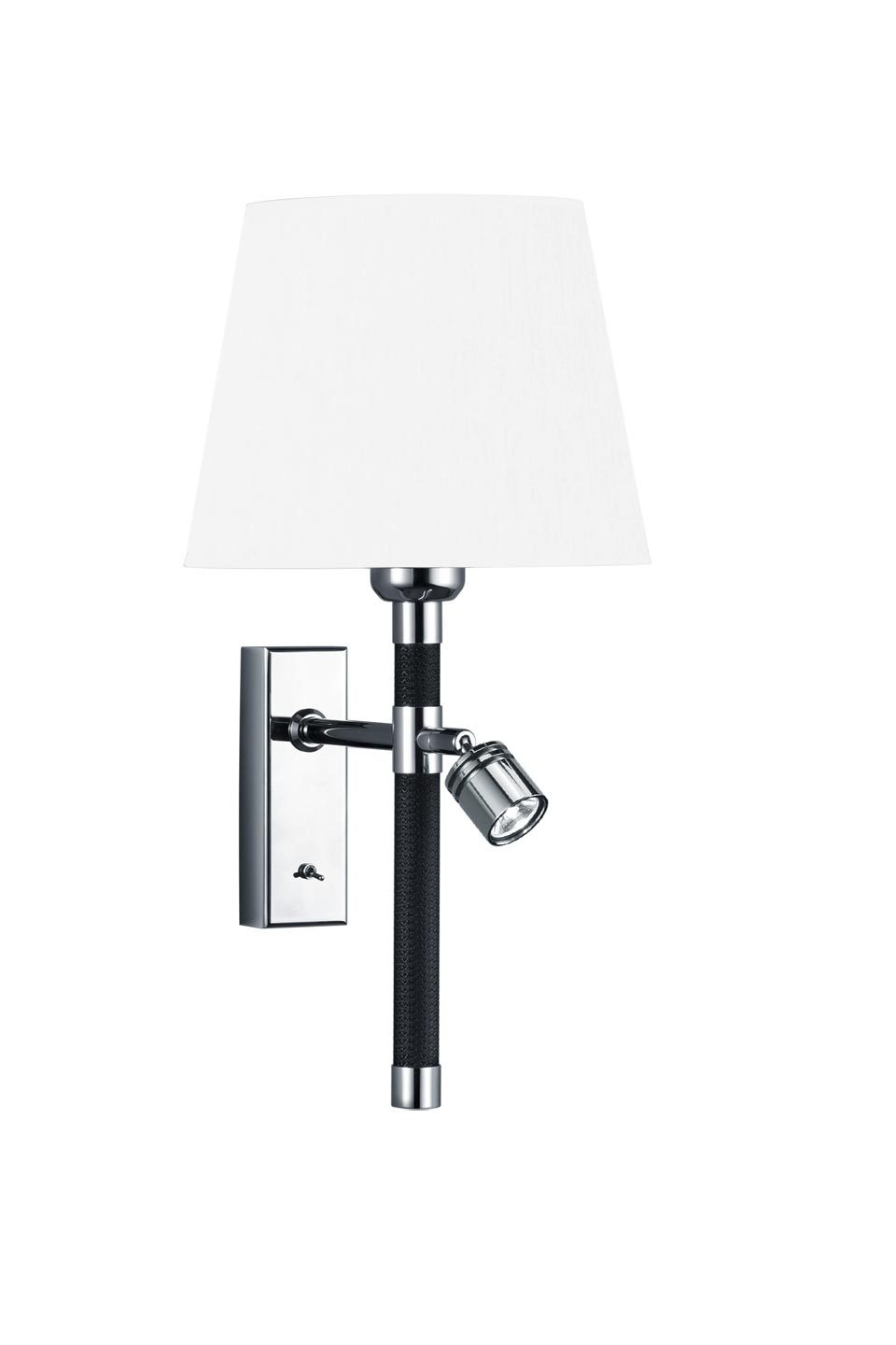 black and white Wall lamp + reading lamp. Baulmann Leuchten.
