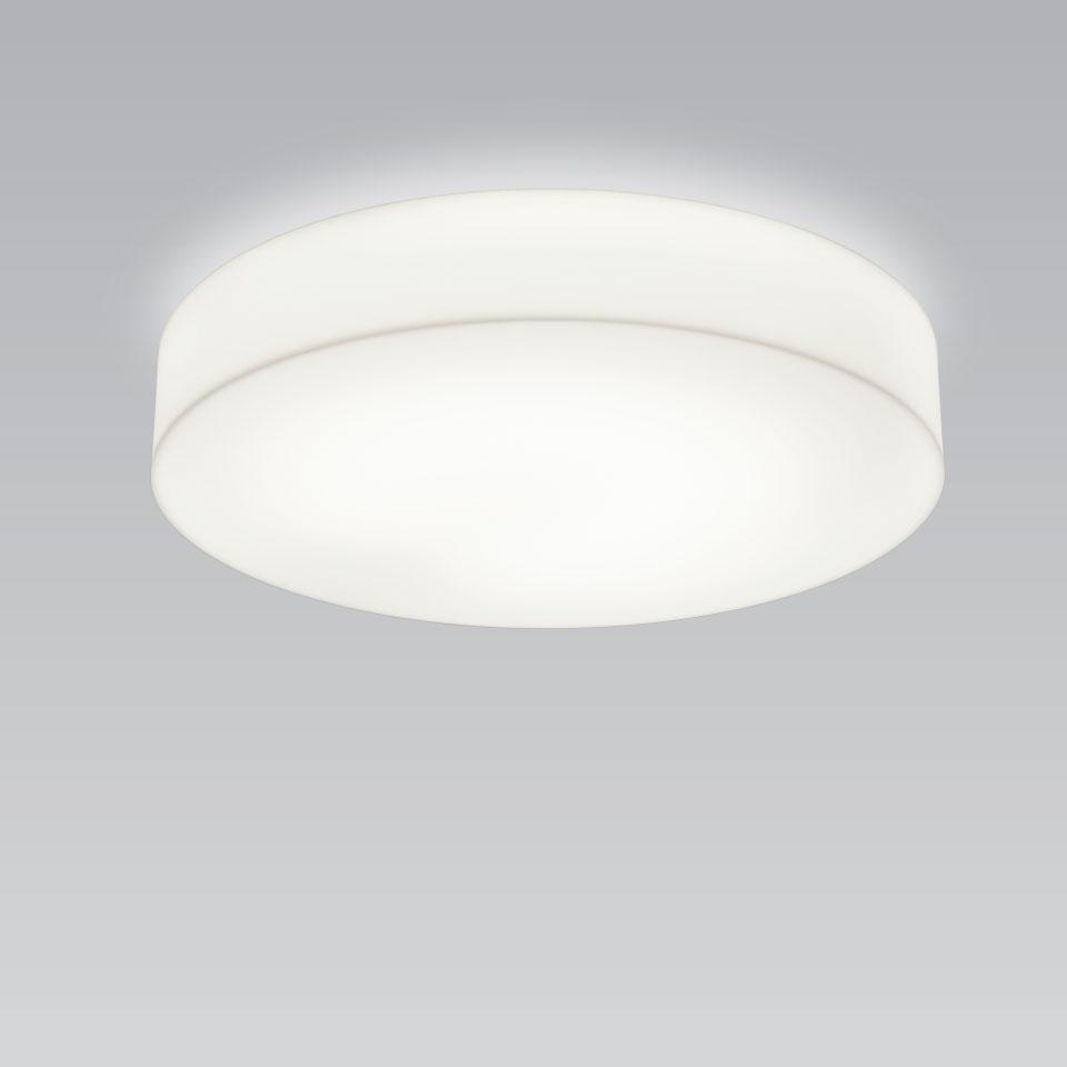 BIG R grand plafonnier blanc en acrylique 60cm. bpe:LICHT.