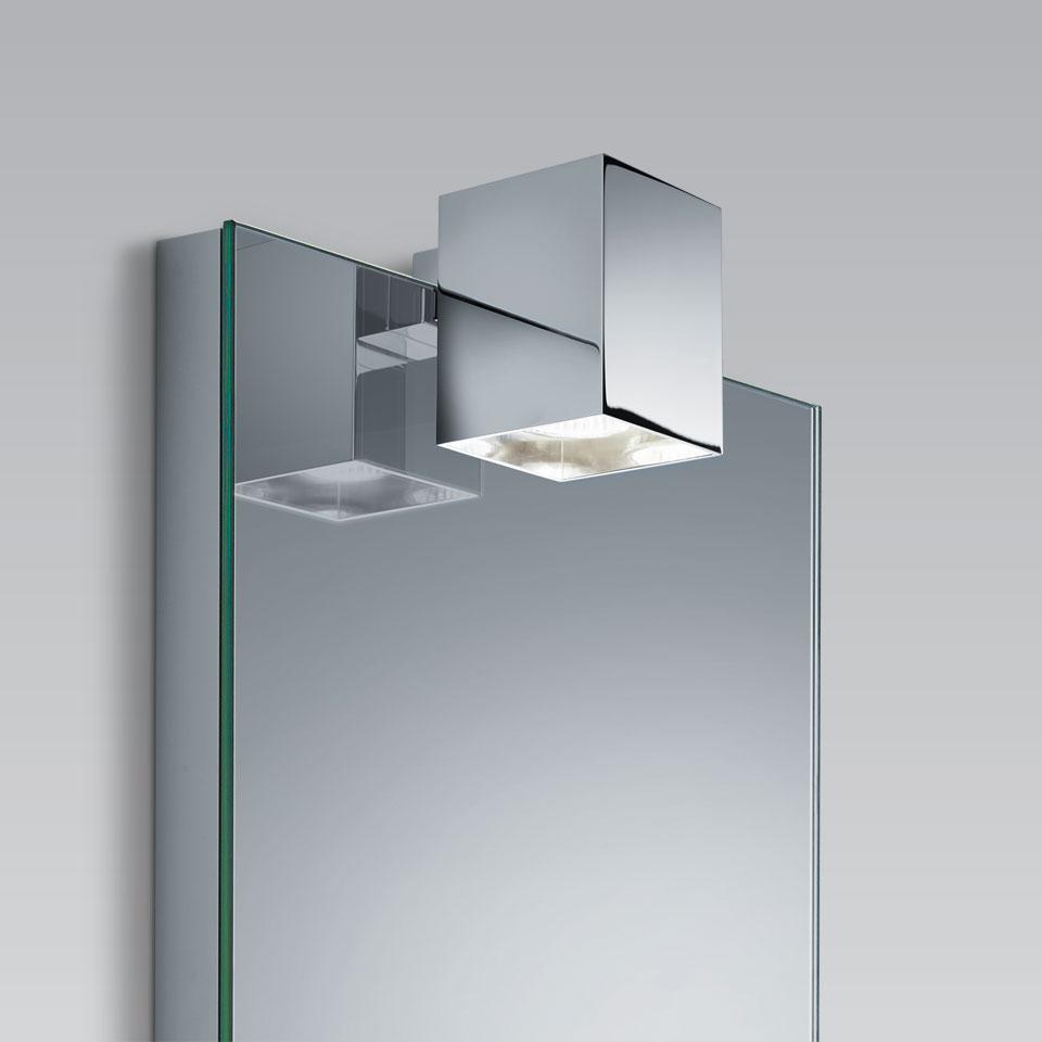 Clip E spot carré pour miroir de salle de bains par BPE Licht - Réf ...