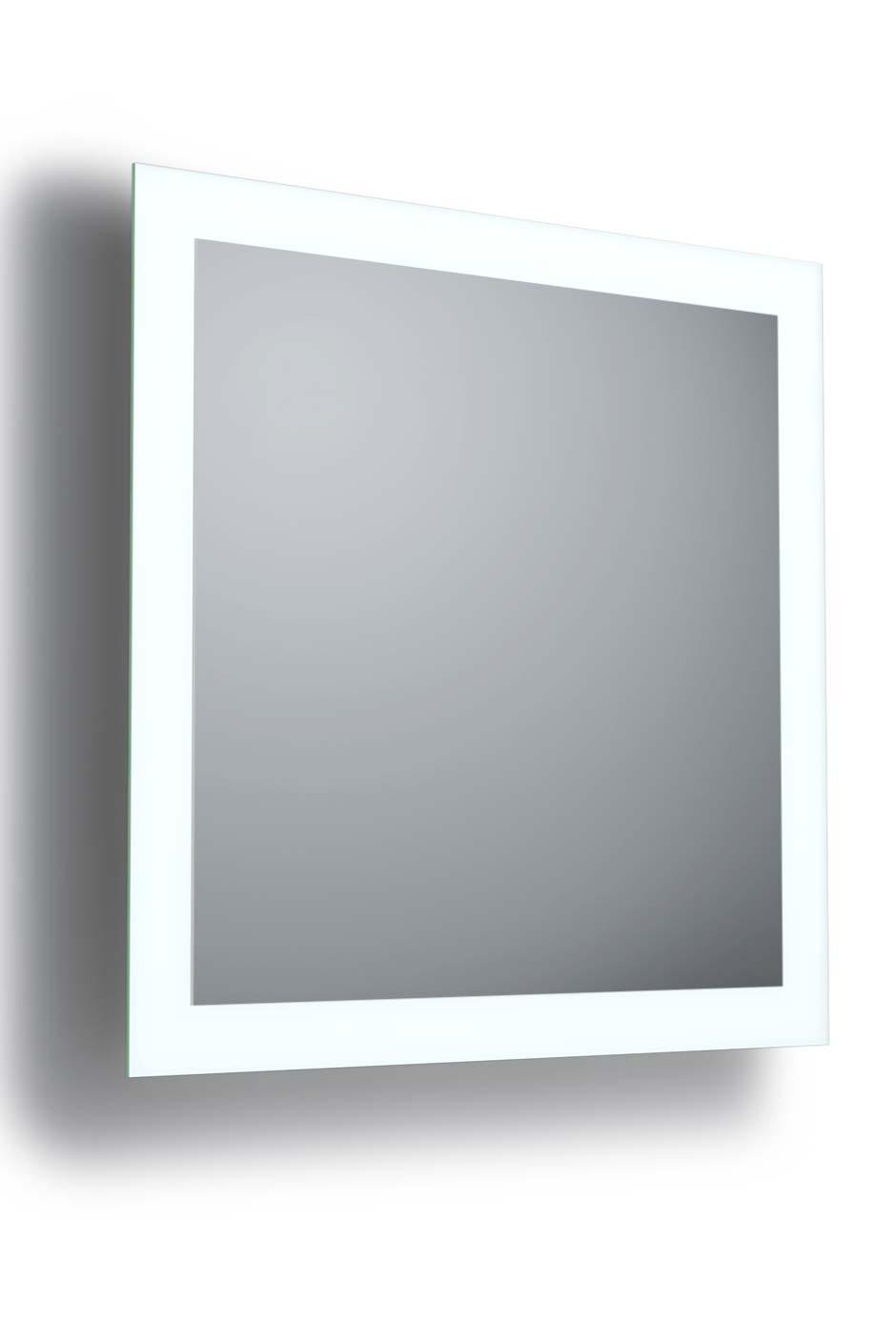 SIDE 4 miroir carré éclairé de 4 côtés 75x75cm. bpe:LICHT.