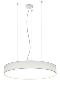 Suspension ronde en Chintz blanc 25cm. bpe:LICHT.
