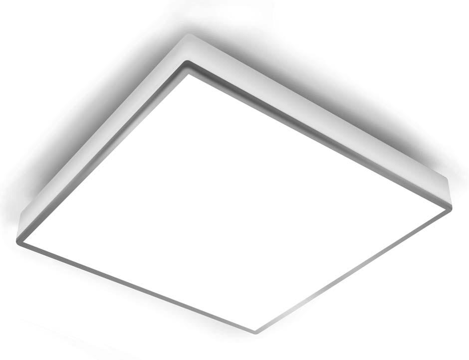 Teca plafonnier carré avec liseré chromé 16cm. bpe:LICHT.